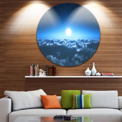 Design Art Night Flight above Clouds Extra Large Wall Art Landscape