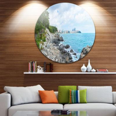 Design Art Pathway along the Coast of Dogbane Landscape Print Wall Artwork
