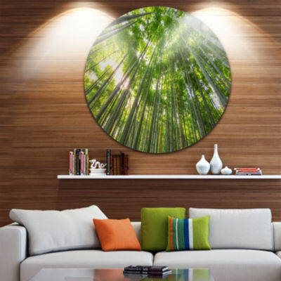Design Art Peaks of Bamboo in Kyoto Forest Oversized Forest Metal Artwork