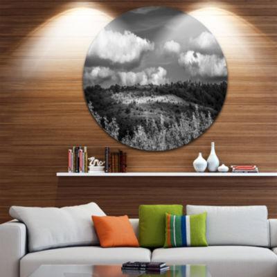 Design Art Green Hills under Cloudy Sky Extra Large Wall Art Landscape