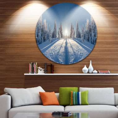 Design Art Majestic White Winter Landscape Landscape Print Wall Artwork