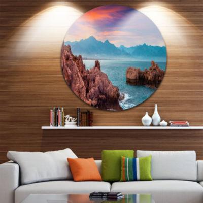 Design Art Sunrise on Barbor Milazzo Panorama Landscape Print Wall Artwork