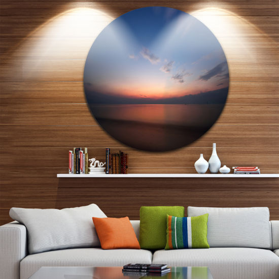 Design Art Ko Samui Sea Sunrise Panorama OversizedBeach Metal Circle Wall Art