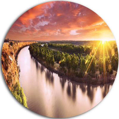 Design Art Sunset over Murray River Panorama ExtraLarge Wall Art Landscape