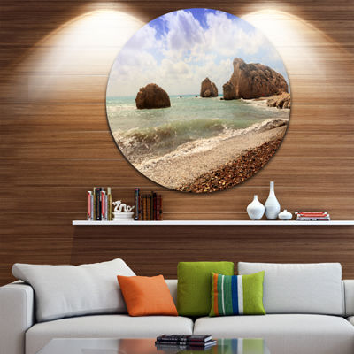 Design Art Amazing Aphrodite s Rock in Cyprus Extra Large Seascape Metal Wall Decor