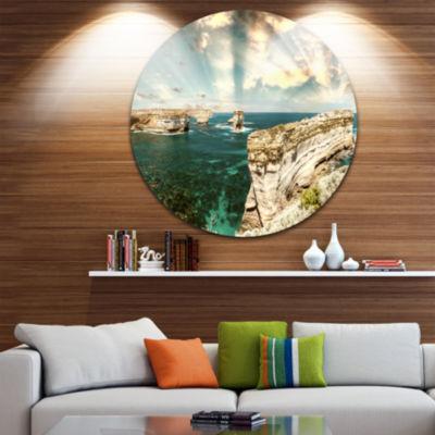 Design Art Rocks at Great Ocean Road Victoria Extra Large Seascape Metal Wall Decor
