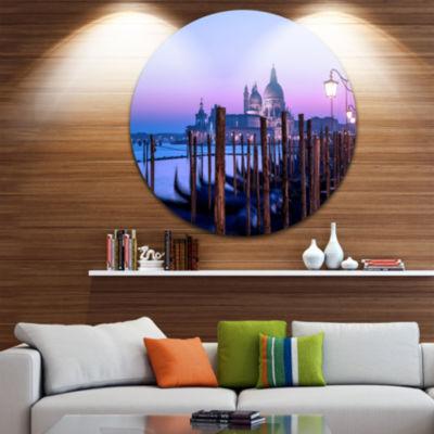 Design Art Venice Sunset Panorama at Twilight Extra Large Seascape Metal Wall Decor