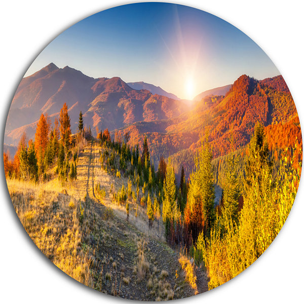 Design Art Majestic Fall Mountains Range LandscapePrint Wall Artwork