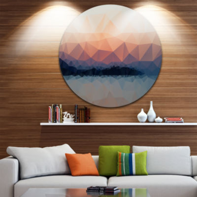 Design Art Sky Sea and Beach Abstract Vector ViewExtra Large Seascape Metal Wall Decor