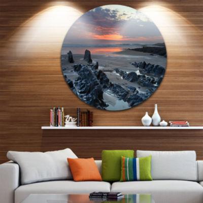Design Art Woolacombe North Devon Sunset Extra Large Seascape Metal Wall Decor