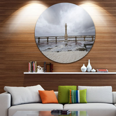 Design Art Spring Storm in Uruguay Panorama BridgeMetal Circle Wall Art