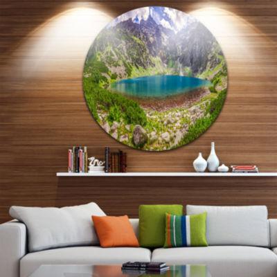 Design Art Tatra Mountains at Dawn Panorama Landscape Metal Circle Wall Art