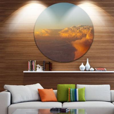 Design Art Solotful Sunset in Sky Cloudscape ExtraLarge Seascape Metal Wall Decor