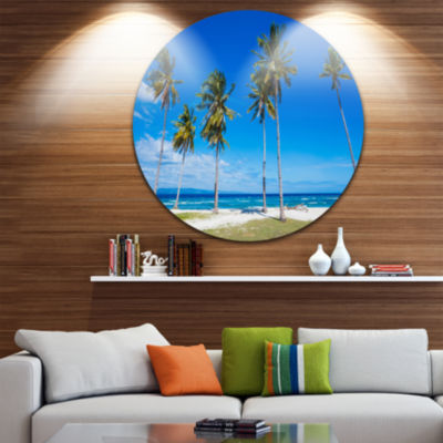 Design Art Bright and Clear Tropical Beach Extra Large Seascape Metal Wall Decor