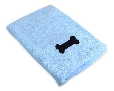 Design Imports Bone Embroidered Microfiber Dog Bath Towel