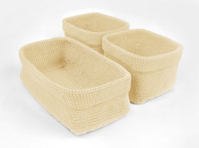 Design Imports Set of 3 Crocheted Baskets