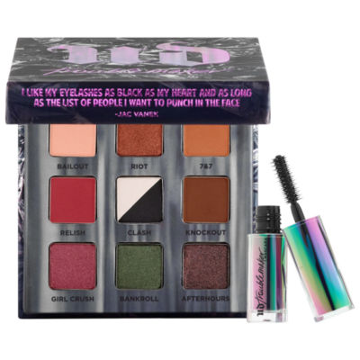 Urban Decay Troublemaker Eyeshadow Palette and Travel-Sized Mascara
