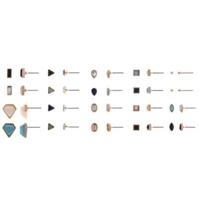 Decree Brass Earring Set