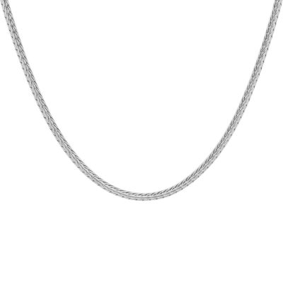 Steeltime Stainless Steel 24 Inch Wheat Chain Necklace