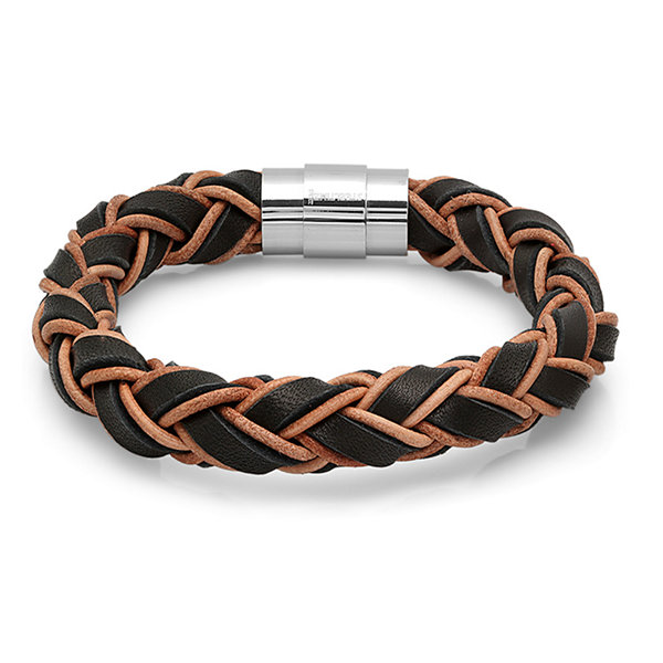 Steeltime Mens Stainless Steel Link Bracelet
