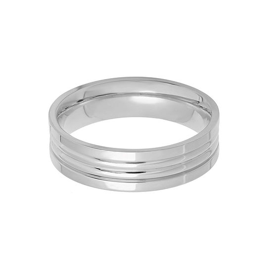 Steeltime Mens 6MM Stainless Steel Band