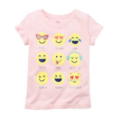 Carter's Short Sleeve Graphic T-Shirt-Preschool Girls