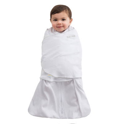 HALO SleepSack Swaddle 100% Cotton - Grey Pin Dot