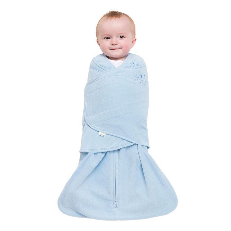 HALO SleepSack Swaddle Microfleece, Boys, Baby Blue, Small