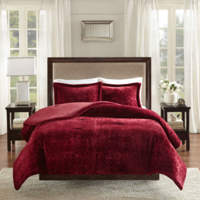 Madison Park Lena Medallion Plush Comforter Set