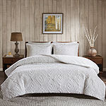 Woolrich Teton Embroidered Plush Coverlet Set