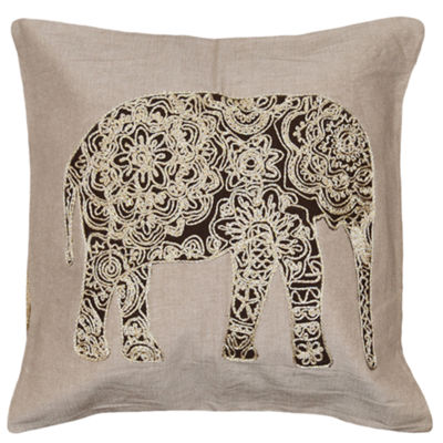 Tabul Elephant 18x18 Square Throw Pillow