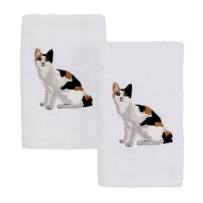 Avanti Calico Cat 2-pc. Embroidered Hand Towel