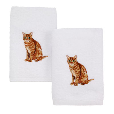 Avanti Tabby Cat 2-pc. Embroidered Hand Towel
