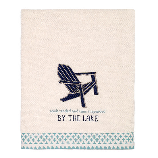 Avanti Lake Life Embroidered Bath Towel Collection