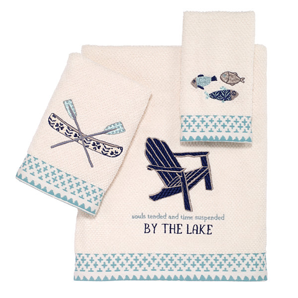 Avanti Lake Life Embroidered Bath Towel Collection