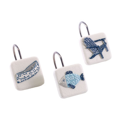 Avanti Lake Life Shower Curtain Hooks