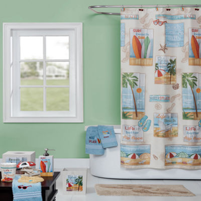 Saturday Knight Beach Time Shower Curtain