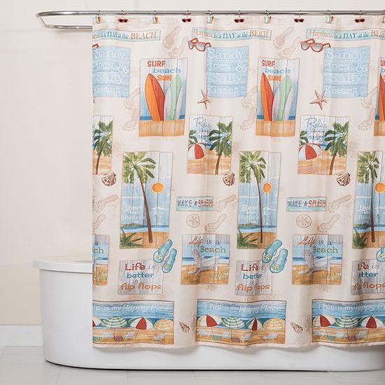 Saturday Knight Beach Time Shower Curtain