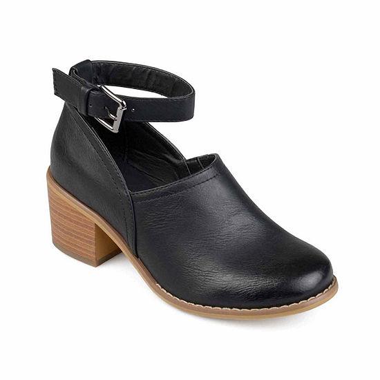 Journee Collection Womens Zhara Booties Block Heel
