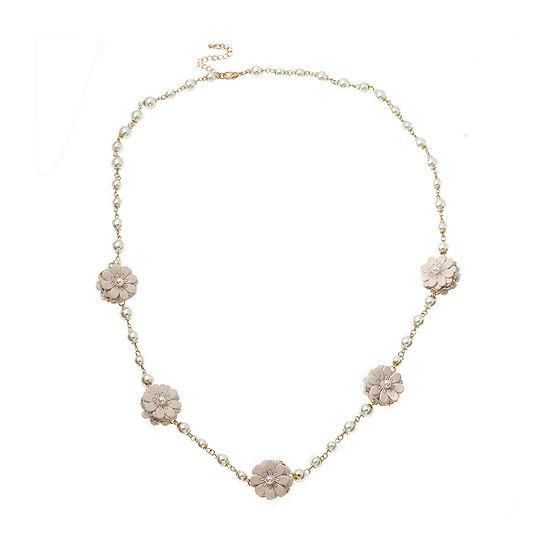 Bijoux Bar Girls White Strand Necklace