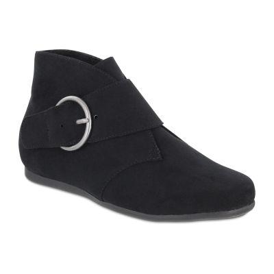 Mia Amore Womens Shoes Flat Heel Buckle Bootie
