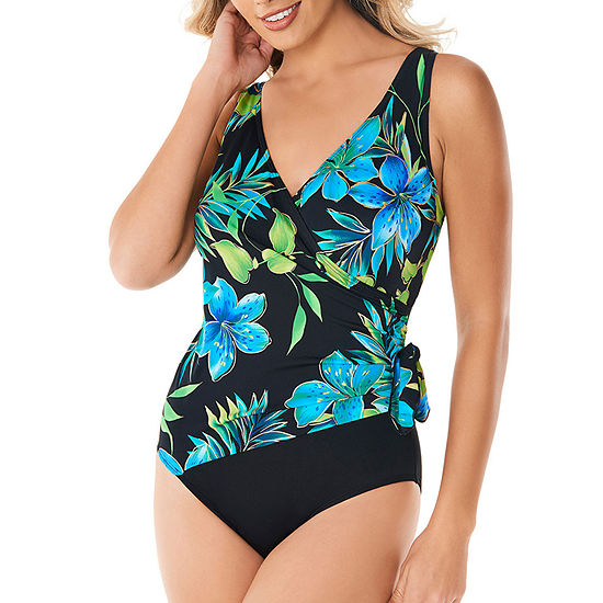 01681aadb6b Robby Len By Longitude Floral One Piece Swimsuit - JCPenney