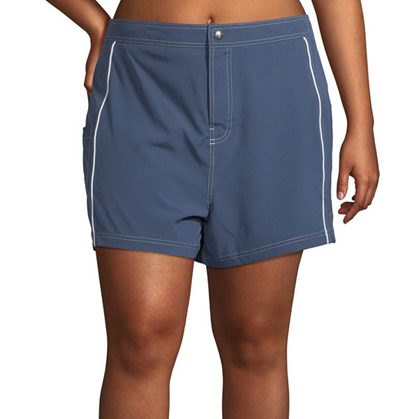 Free Country Swim Shorts Swimsuit Bottom Plus