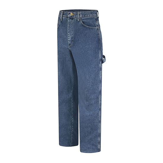 Bulwark Mens Mid Rise Loose Fit Straight Jean
