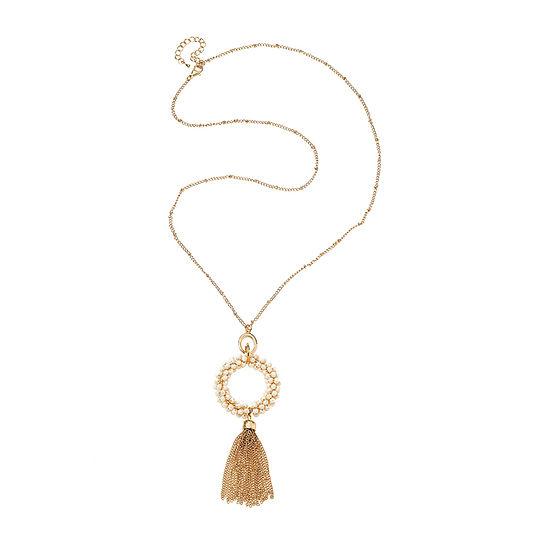 Bijoux Bar Champagne Link Y Necklace