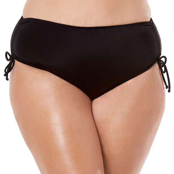 St. John's Bay Brief Bikini Swimsuit Bottom Plus