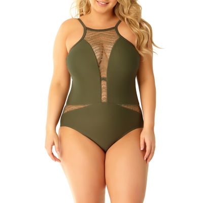 Allure By Img One Piece Swimsuit Juniors Plus