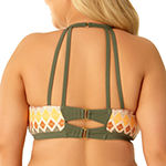 Allure By Img Chevron High Neck Swimsuit Top or Swimsuit Bottom-Juniors Plus