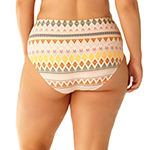 Allure By Img Chevron High Waist Swimsuit Bottom Juniors Plus