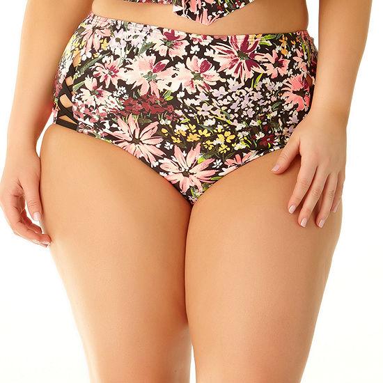 Allure By Img High Waist Bikini Swimsuit Bottom Juniors Plus